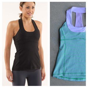 LULULEMON | Scoop Neck Tank Top Stripes | Sz. 6